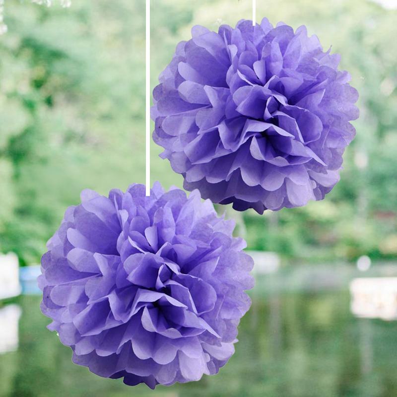 "BalsaCircle 12 pcs 6"" Paper Pom-Poms - Wedding Bridal Event Party Decorations Supplies"