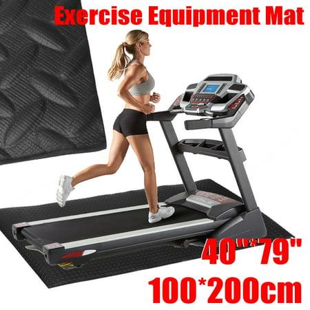 Exercise Mat 79x40'' Gym Equipment for Treadmill Bike Protect Floor (Treadmill Floor Mats)