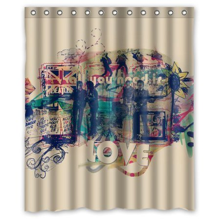 DEYOU The Beatles All You Need Is Love Shower Curtain Polyester ...