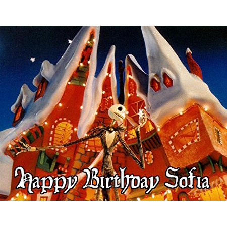 1/4 Sheet Nightmare Before Christmas Edible Frosting Cake Topper- 76499* ()