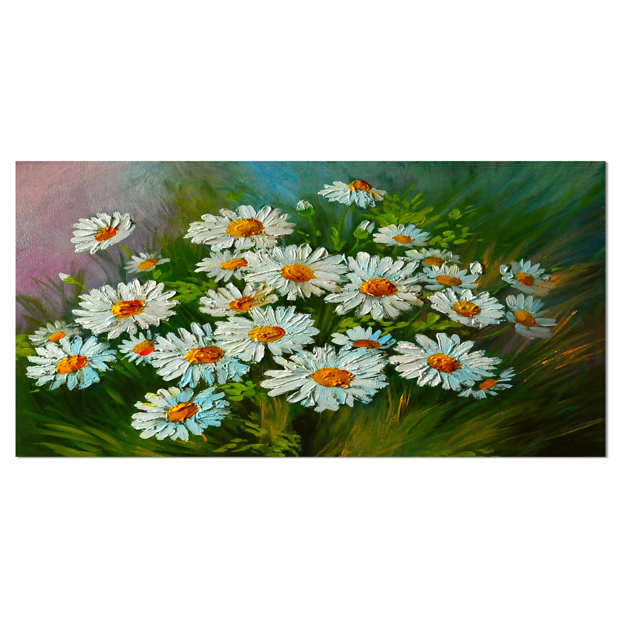 Heavily Textured Daisies - image 1 of 3