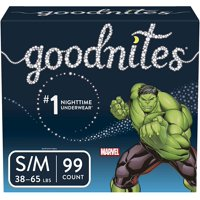 Goodnites Boys Bedtime Bedwetting Underwear, Size S/M (Choose Count)