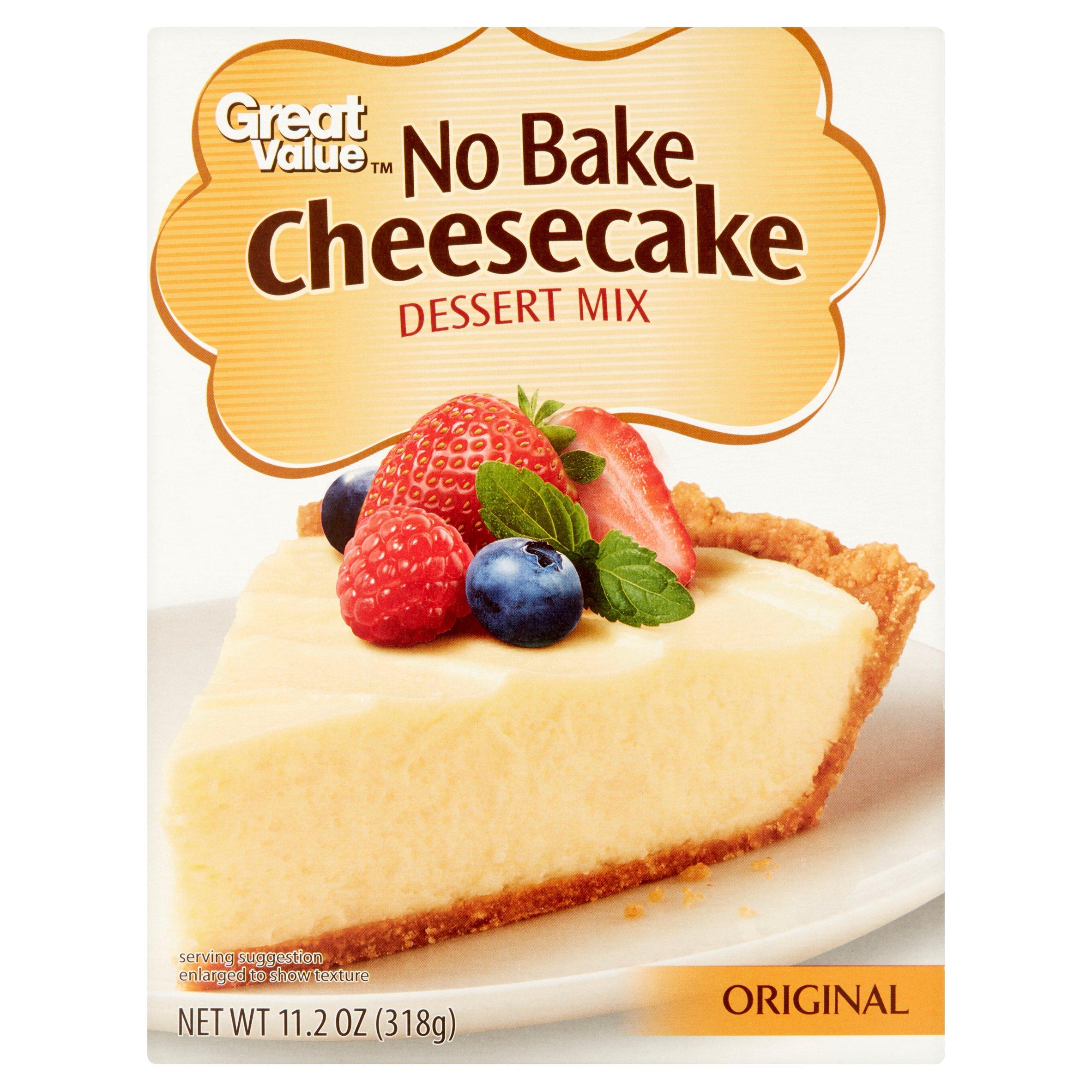 Great Value Dessert Mix No Bake Cheesecake Original 11 2 Oz