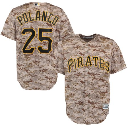 Gregory Polanco Pittsburgh Pirates Majestic Alternate Official Cool Base Player Replica Jersey - Camo