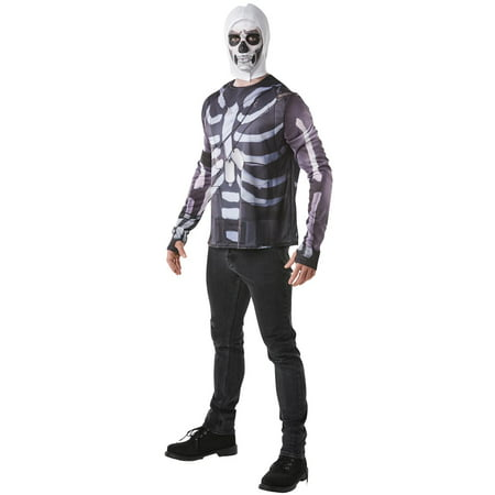 Fortnite Skull Trooper Adult Costume Top & Hood
