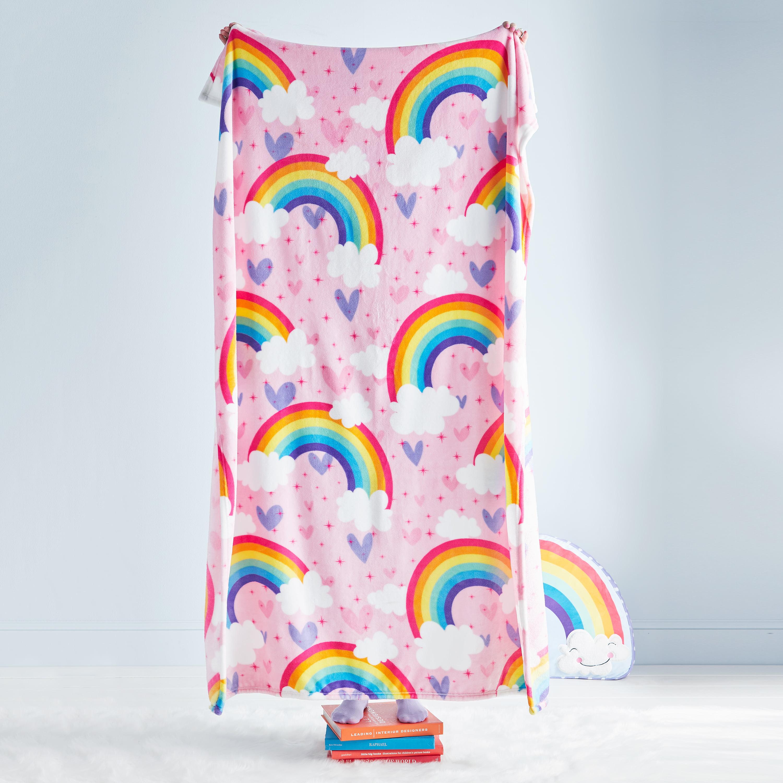 Dream Factory Unicorn Rainbow Cuddle N Go Plush Blanket