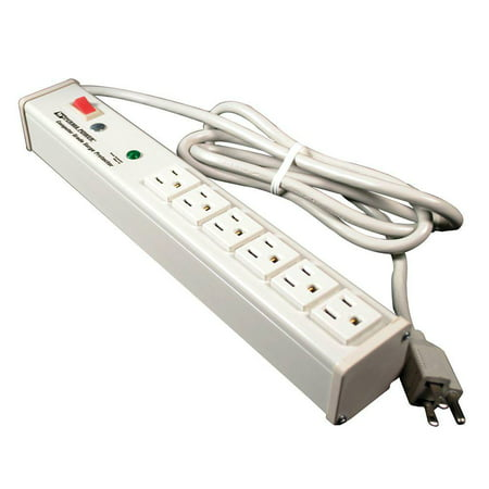 Wiremold Perma Power Plug-In Outlet Center Unit / 120V/15A/6 O/L /lighted switch/15' cord/Computer Grade Surge