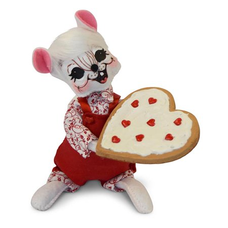 Annalee Dolls 6in 2018 Valentine Cookie Mouse Plush New with Tags