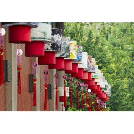 Lantern decoration during the Chinese Lantern Festival, Taipei, Taiwan Print Wall Art By Keren Su for $<!---->