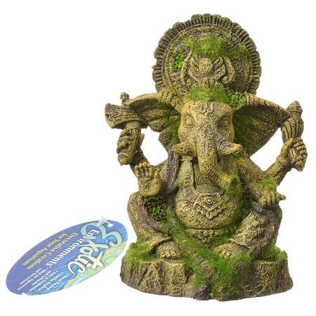 Exotic Environments Ganesha Statue with Moss Aquarium Ornament 4.75L x 4W x 6.25H