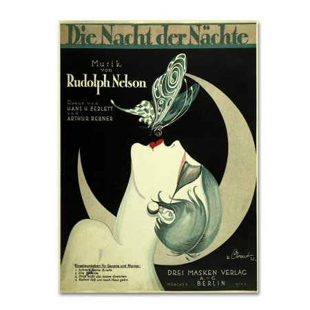 Trademark Fine Art 'Art Deco Music Sheet' Canvas Art by Vintage Apple Collection ()