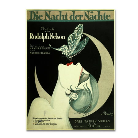 Trademark Fine Art 'Art Deco Music Sheet' Canvas Art by Vintage Apple - Vintage Deco Design