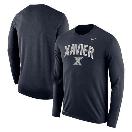 Xavier Musketeers Nike Arch Over Logo Long Sleeve T-Shirt - Navy