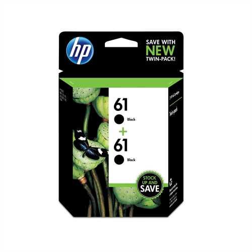 HP 61 Black Original Ink Cartridges, 2 pack