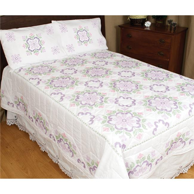Stamped White Quilt Top-XX Colonial