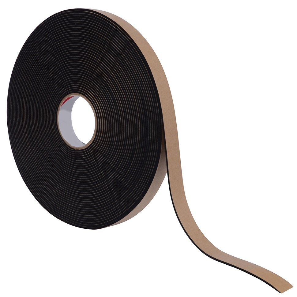Black Pres-On P8225RL00.50XOH Neoprene Foam Tape with 3 Core 1//16 x 1//2 x 100 Fоur Расk