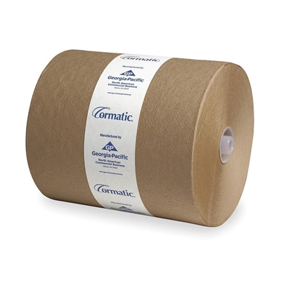 Georgia Pacific Cormatic Paper Towel, 2910P Hardwound Roll, Brown, 8.25 X 700 Foot - Case of 6