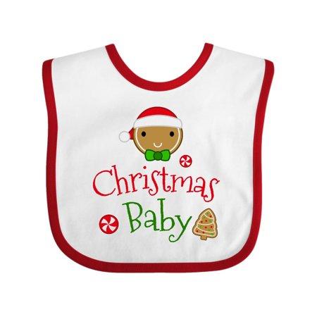719ca991abca Gingerbread Christmas Baby Holiday Baby Bib - Walmart.com