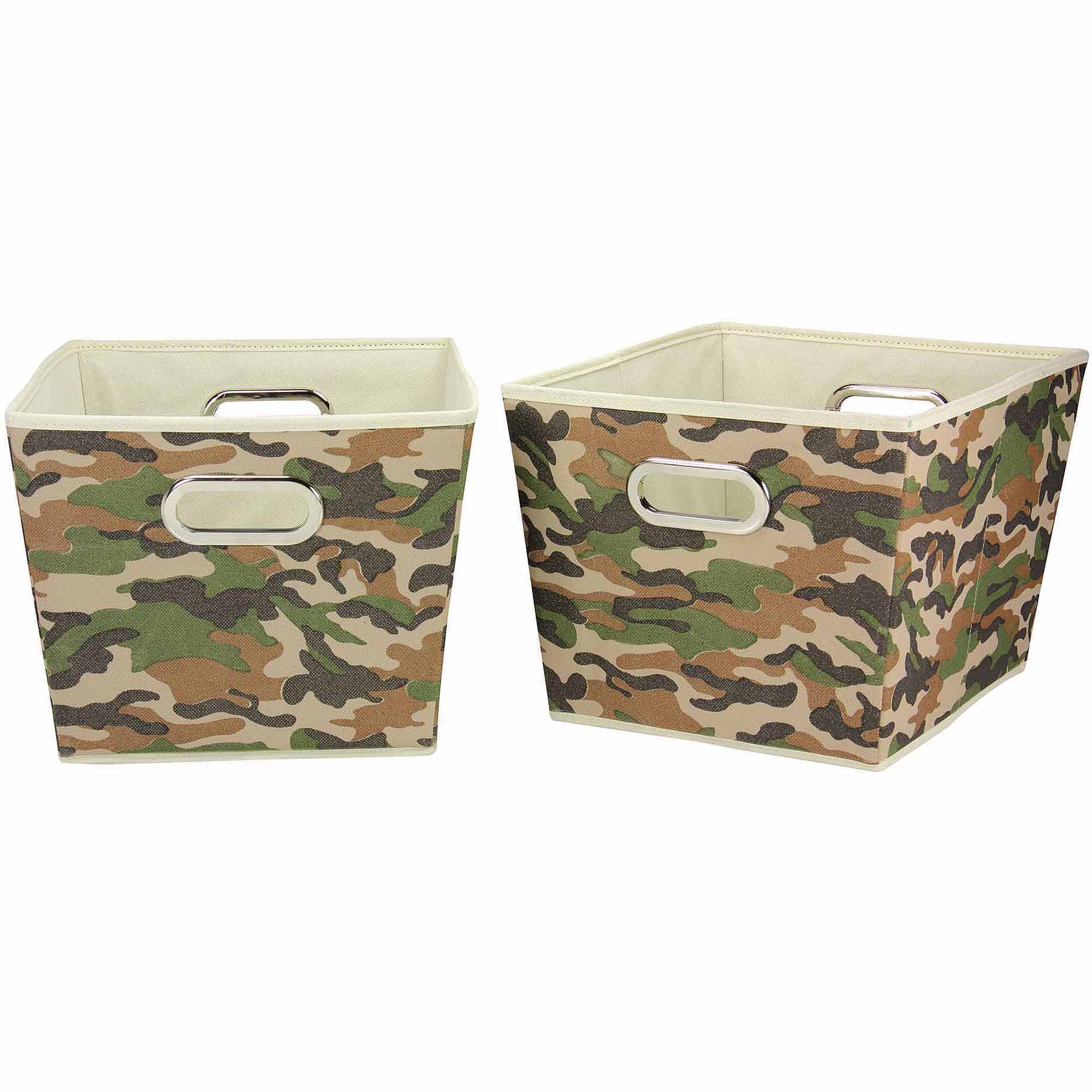 household essentials decorative storage bins 2pk medium camo design walmartcom - Decorative Storage Bins