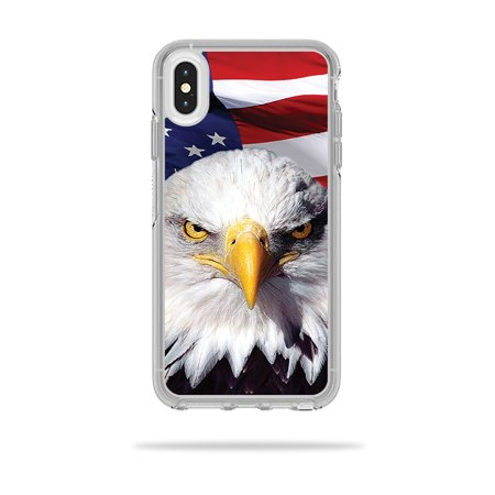 MightySkins Skin for OtterBox Symmetry iPhone XS Max Case - America Strong | Protective, Durable, and Unique Vinyl Decal wrap cover | Easy To Apply, Remove, and Change Styles | Made in the USA