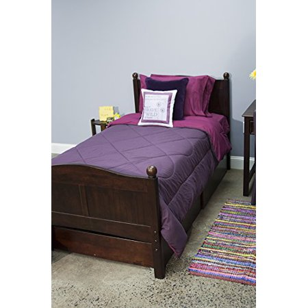 5 Piece Dorm Twin XL Reversible Bed In A Bag with Comforter, Flat Sheet, Fitted Sheet and 2 Pillowcases, Magenta (Dorm Bed)
