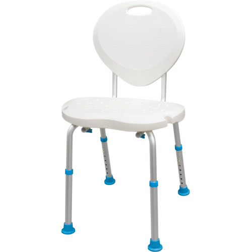 AquaSense Adjustable Bath And Shower Chair With Non Slip Comfort Seat And  Backrest, White
