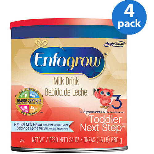 Enfagrow Toddler Next Step Natural Milk- Milk Drink, 24 oz Powder Can, Pack of 4