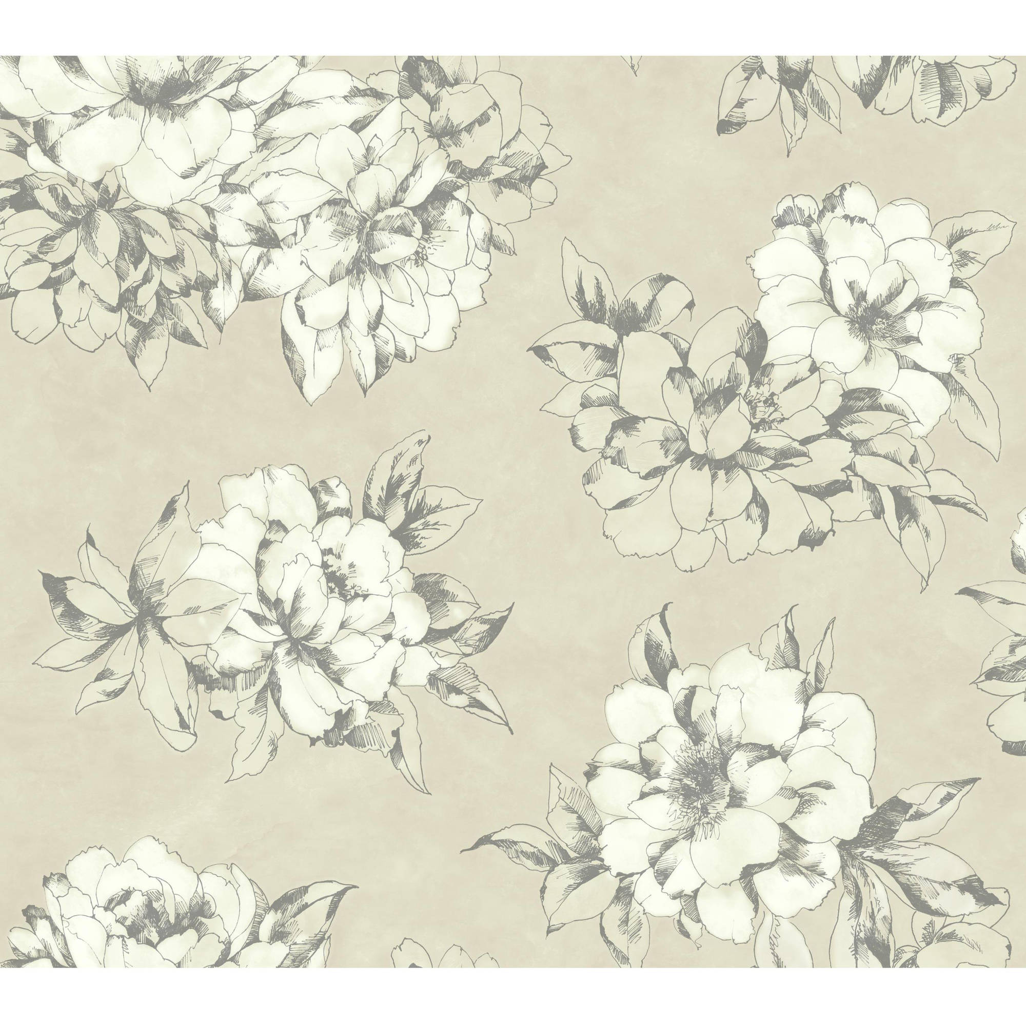Black White Watercolor Floral Wallpaper Walmart Com Walmart Com