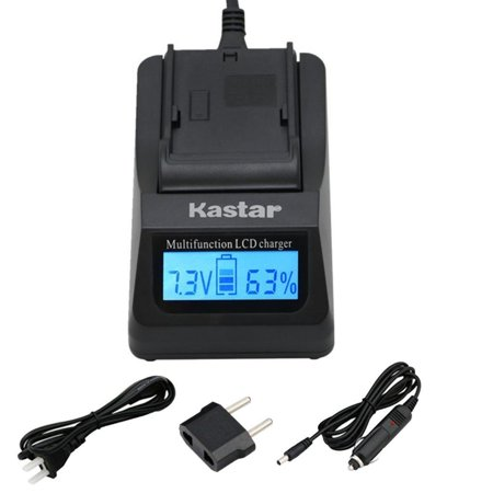 Kastar Fast Charger for Sony NP FH100 DCR DVD92 DVD405 DVD408 DVD610 DVD620E DVD650E HC48 HC96 SR45 SR47 SR65 Size 1 fast charger                                 Package Includes  1 x Ultra Fast Charger  1 x Car Charger  1 x European Plug  1 x Wall Outlet Power Cord  Battery Compatible   Sony NP FH100  FH70  FH50  Sony NP FP51  FP71  FP91   Charger Compatible   Sony BC TRV  TRV U   Compatible with the following models   Sony DCR 30  Sony DCR DVD92  Sony DCR DVD100 series  Sony DCR DVD200 series  Sony DCR DVD300 series  Sony DCR DVD400 series  Sony DCR DVD500 series  Sony DCR DVD600 series  Sony DCR DVD700 series  Sony DCR DVD800 series  Sony DCR DVD900 series  Sony DCR HC16  Sony DCR HC17  Sony DCR HC18  Sony DCR HC19  Sony DCR HC20 series  Sony DCR HC30 series  Sony DCR HC40 series  Sony DCR HC50 series  Sony DCR HC60 series  Sony DCR HC85  Sony DCR HC94  HC96  Sony DCR SR30 series  Sony DCR SR40 series  Sony DCR SR50 series  Sony DCR SR60 series  Sony DCR SR70 series  Sony DCR SR80 series  Sony DCR SR90  Sony DCR SR100  Sony DCR SR190  Sony DCR SR200  Sony DCR SR210  Sony DCR SR220  Sony DCR SR290  Sony DCR SR300  Sony DCR SX40  Sony HDR CX6  Sony HDR CX7  Sony HDR CX11  Sony HDR CX12  Sony HDR CX100  Sony HDR CX105  Sony HDR CX106  Sony HDR CX300  Sony HDR CX500  Sony HDR CX520  Sony HDR HC3  Sony HDR HC5  Sony HDR HC7  Sony HDR HC9  Sony HDR SR5  Sony HDR SR7  Sony HDR SR8  Sony HDR SR10  Sony HDR SR11  Sony HDR SR12  Sony HDR UX3  Sony HDR UX5  Sony HDR UX7  Sony HDR UX9  Sony HDR UX10  Sony HDR UX19  Sony HDR UX20  Sony HDR XR100  Sony HDR XR200  Sony HDR XR500  Sony HDR XR520