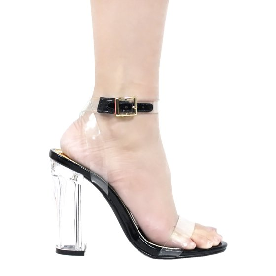 5c8b383448c Liliana - Womens Clear Strap Visible High Heel Belt Buckled Sandals ...