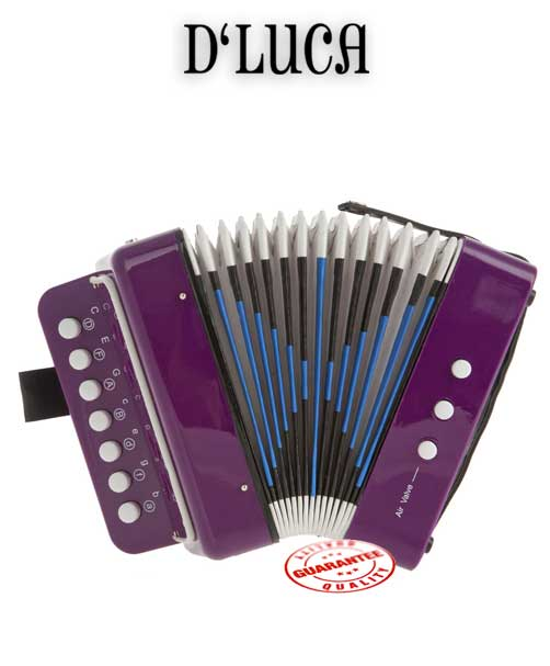 DLuca Child Button Accordion Purple by D'Luca