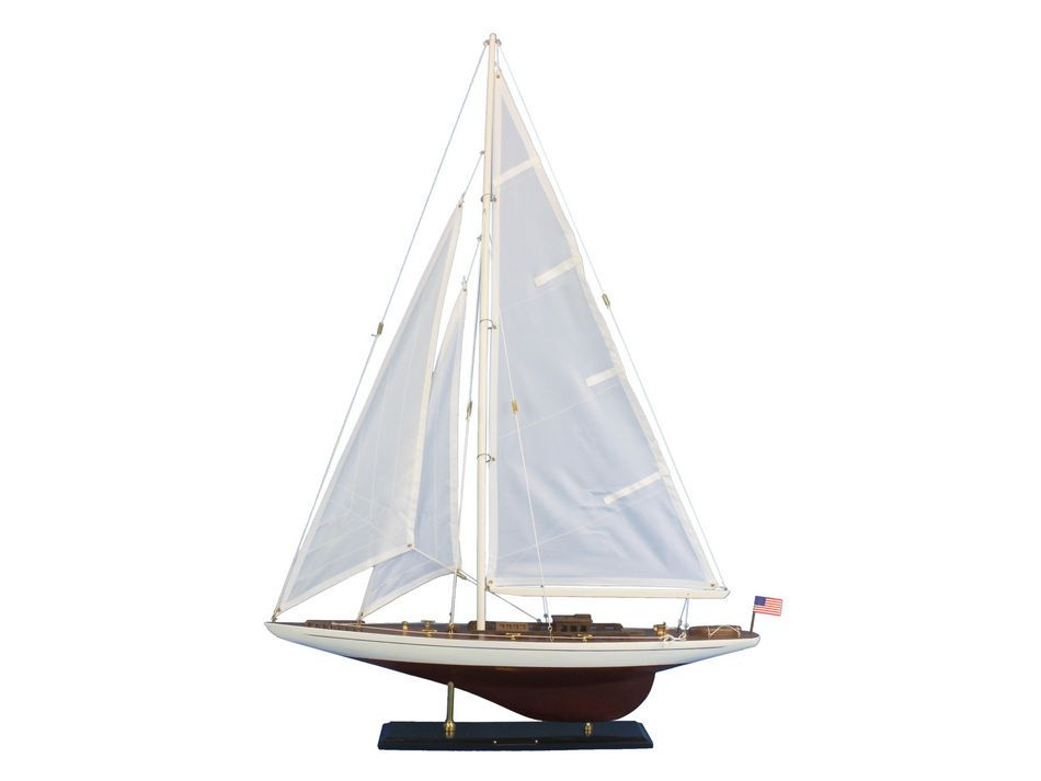 "Ranger 35"" Americas Cup Model Sailboat Wooden Model Sailboat Not a Kit by Handcrafted Nautical Decor"