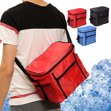 3 Colors Fashionable Camping Picnic Thermal Cooler Lunch Box Travel Portable Food Storage Bag ,Picnic Bag, Thermal Cooler Bag (Solid Black Baggy Chef Pants)