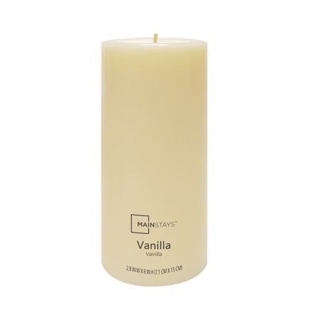 Mainstays Vanilla Fragranced Pillar 6in
