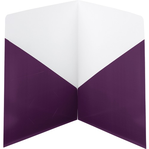 Smead Classic Two-Pocket Folders - 2 Pocket(s) - Purple - 25 / Box SMD87961