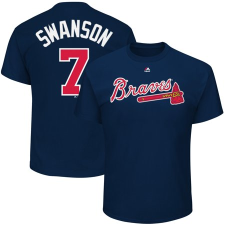 Dansby Swanson Atlanta Braves Majestic Youth Player Name & Number T-Shirt -