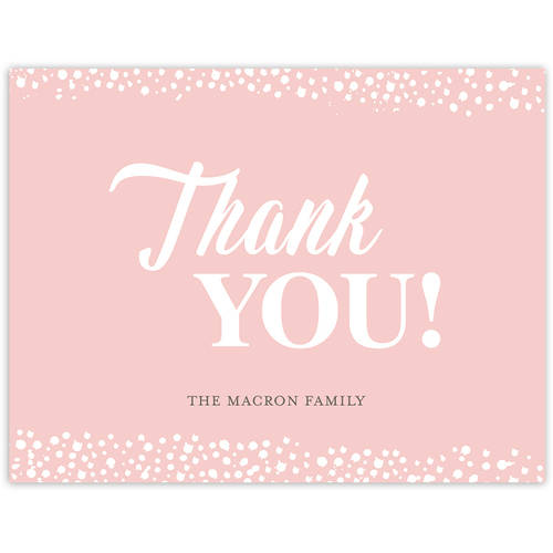 Glamourous Speckles Party Thank You Card