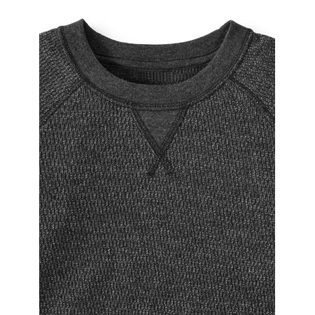 Wonder Nation Long Sleeve Thermal Sweatshirt, 2 Pack (Little Boys, Big Boys, and Husky)