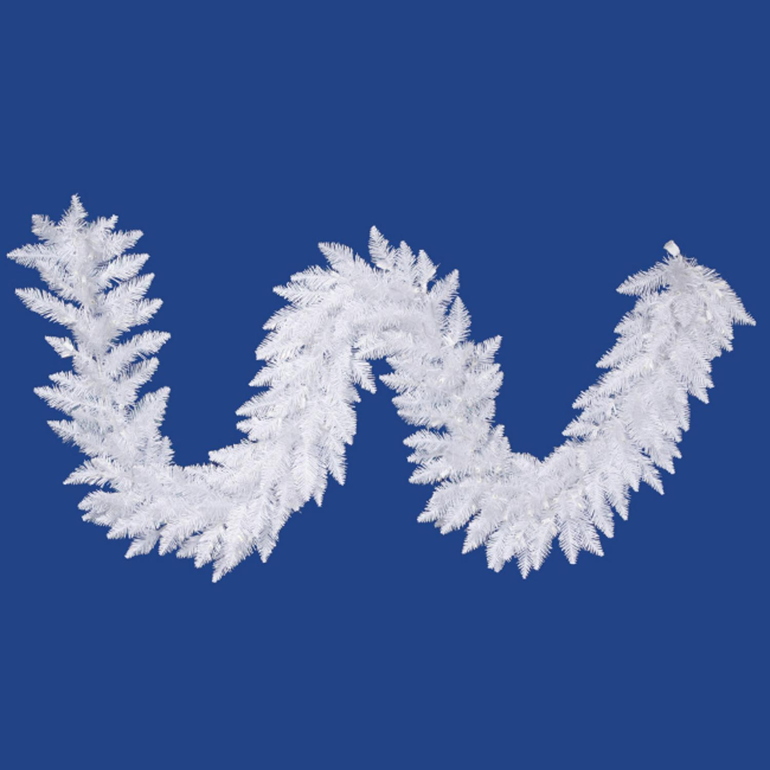 """9' x 14"""" Sparkle White Spruce Artificial Christmas Garland - Unlit"""