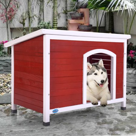 X-large X-large Color - Jaxpety Weather Resistance Outdoor Wood Dog House, X-Large, 45.5