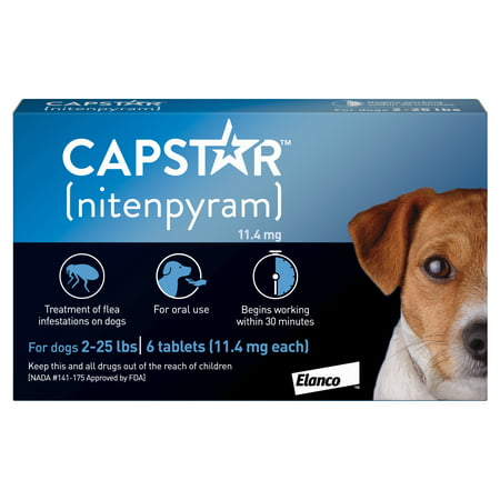 Capstar Fast-Acting Oral Flea Treatment for Small Dogs – 6 Doses (Tattoo Dog)