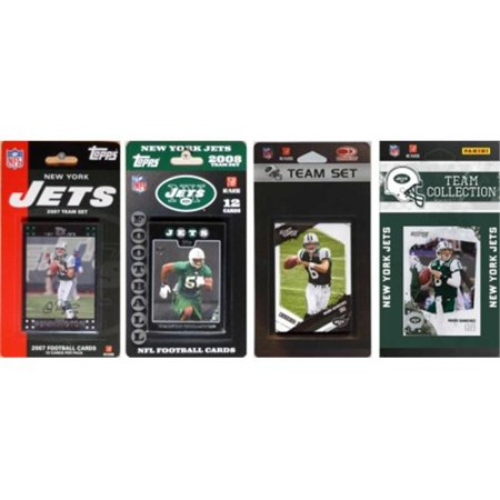 C & I Collectibles JETS4TS NFL Jets de New York 4 diff-rentes -quipes Trading Card licence Sets - image 1 de 1