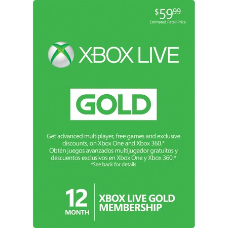 Xbox Live 12 Month Gold Membership Card For Xbox One   360   Physical Card