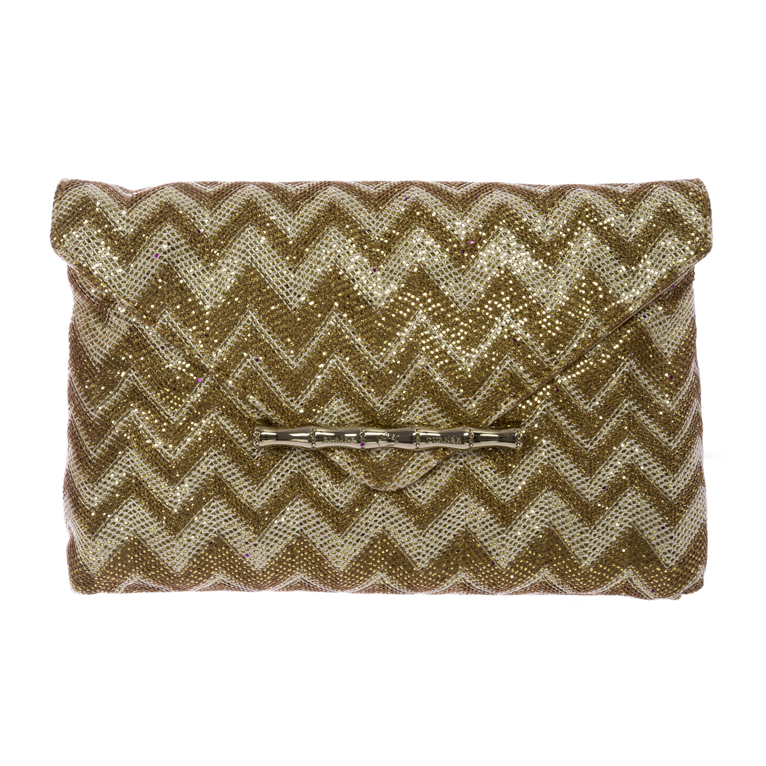 Elaine Turner Women's Zip Zag Bella Envelope Clutch Bag One Size Gold