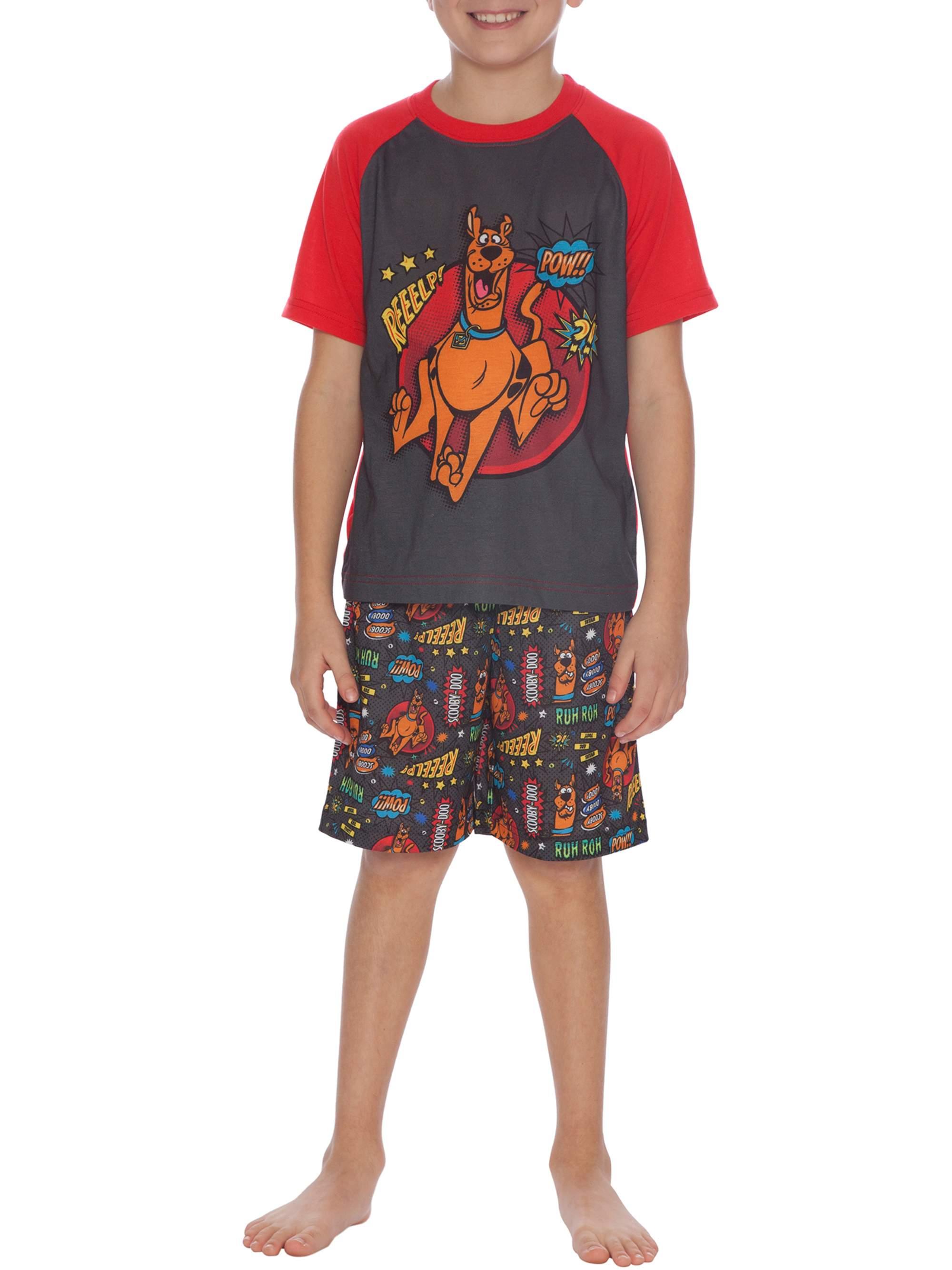 Boys' Scooby Doo 'Mystery Machine' 2 Piece Pajama Sleep Set (Little Boy & Big Boy)