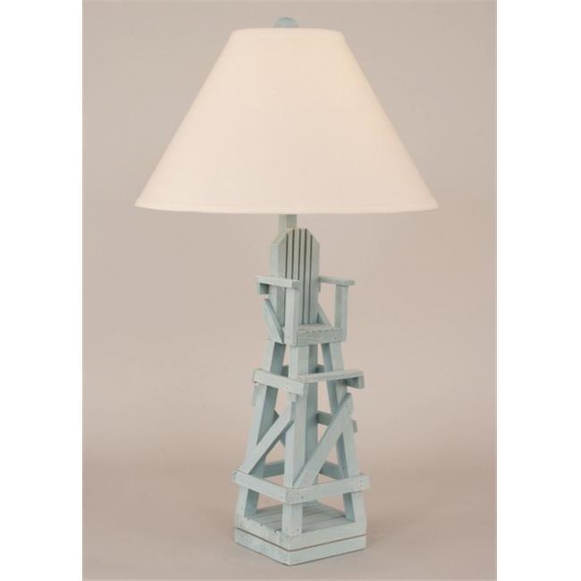 Coast Lamp 12-B23A Lifeguard Chair Table Lamp - Weathered Atlantic Grey