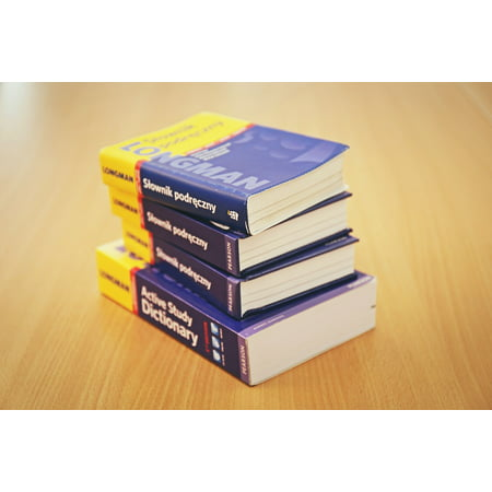 Canvas Print School Stack of Books Library Stack Education Book Stretched Canvas 10 x 14