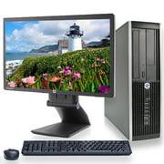 "HP Elite Desktop Computer Bundle Windows 10 Professional Intel i5-2400 3.1GHz Quad Core Processor 8GB 500GB HD DVD Wifi Bluetooth with a HP E201 20"" LED Monitor -Refurbished"