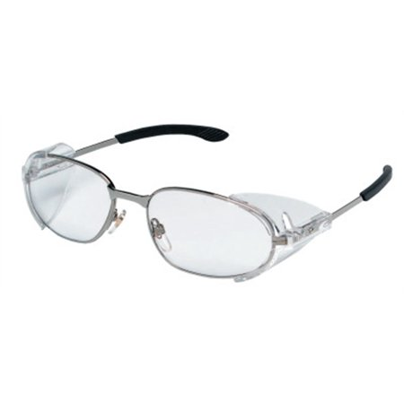 RT2 Protective Eyewear, Clear Polycarbonate Lenses, Chrome Frame