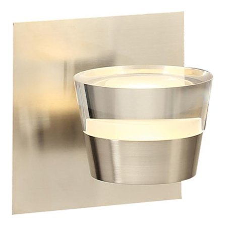 Sitra Single Vanity Wall Sconce, Satin Nickel ()
